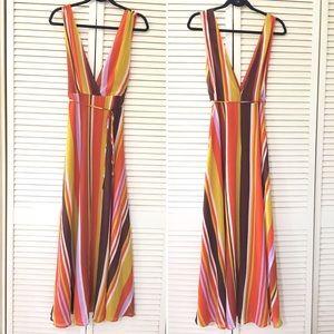Forever 21 Dress Full Length Orange Sleeveless